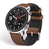 Amazfit GTR 47mm Reloj Inteligente Deportivo AMOLED de 1.39',GPS GLONASS Integrado Frecuencia Cardíaca de 24 Horas Larga duración de batería 12 Deportes Diferentes Acero Inoxidable