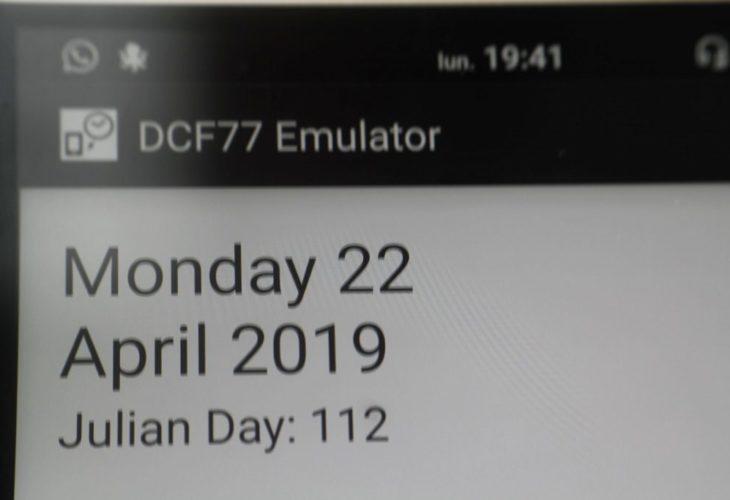 Aplicación DCF77 Emulator