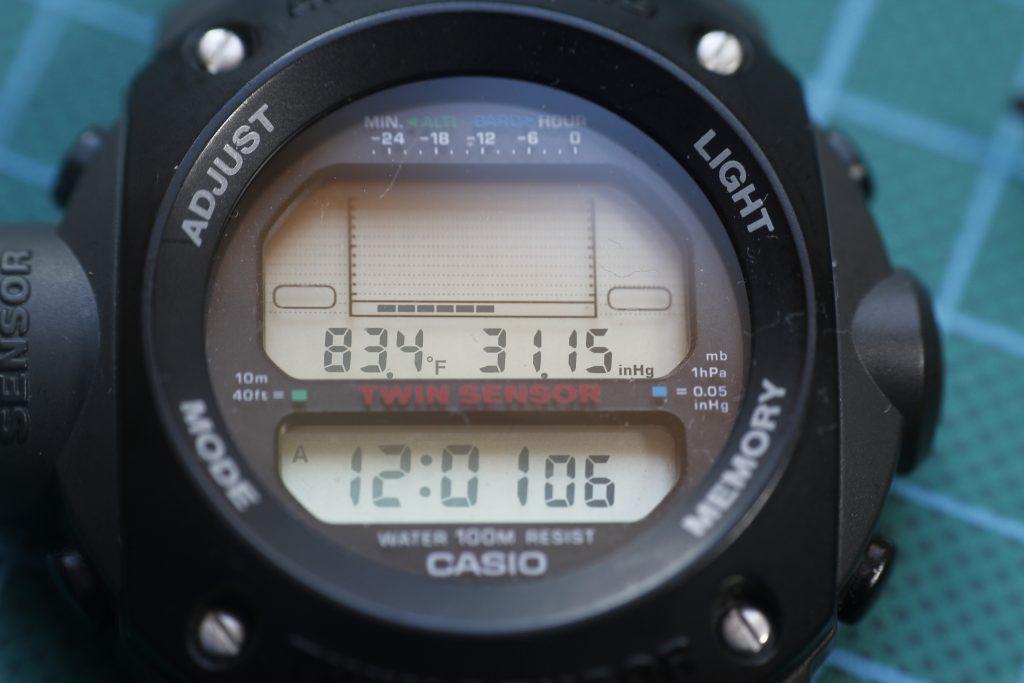 Casio ALT-6200 altimetro y barometro