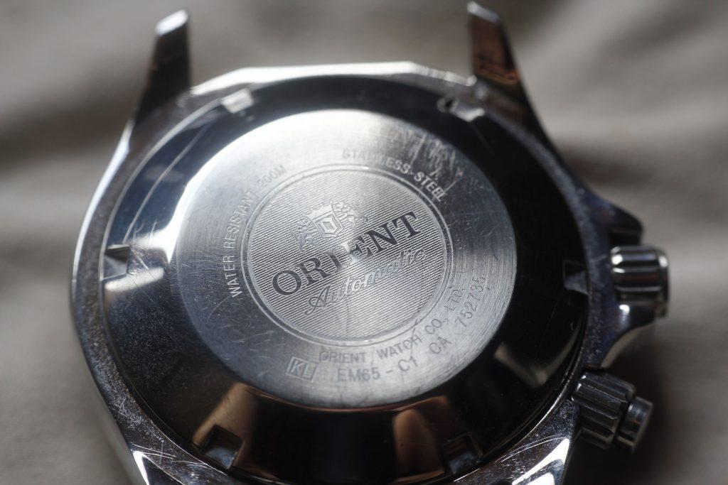 Orient Mako tapa trasera