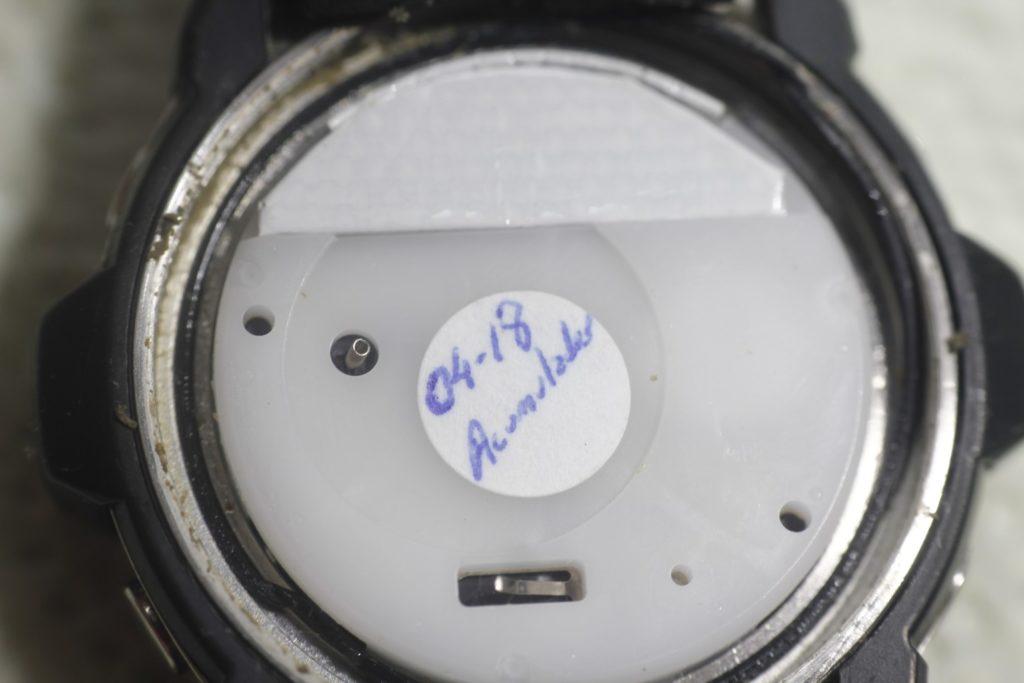 Casio Giez GS-1100 - Detalle de fecha de cambio del acumulador
