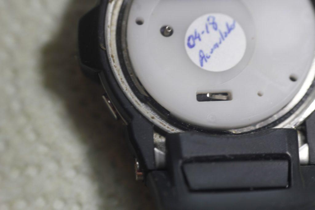 Casio Giez GS-1100 - Junta trasera mal colocada bis