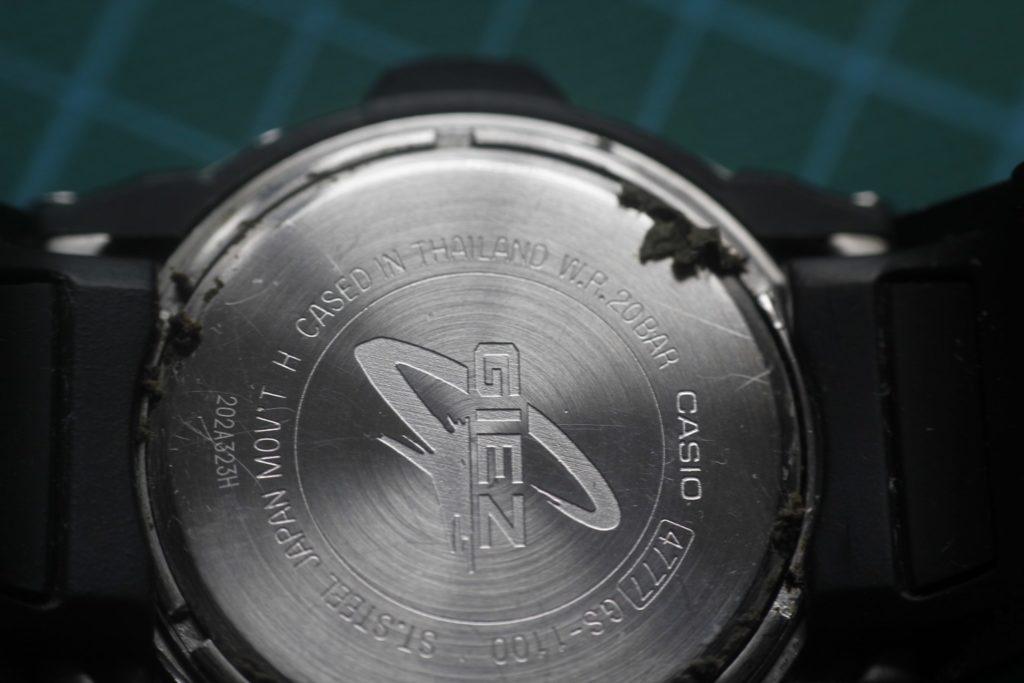 Casio Giez GS-1100 - Suciedad al girar el aro