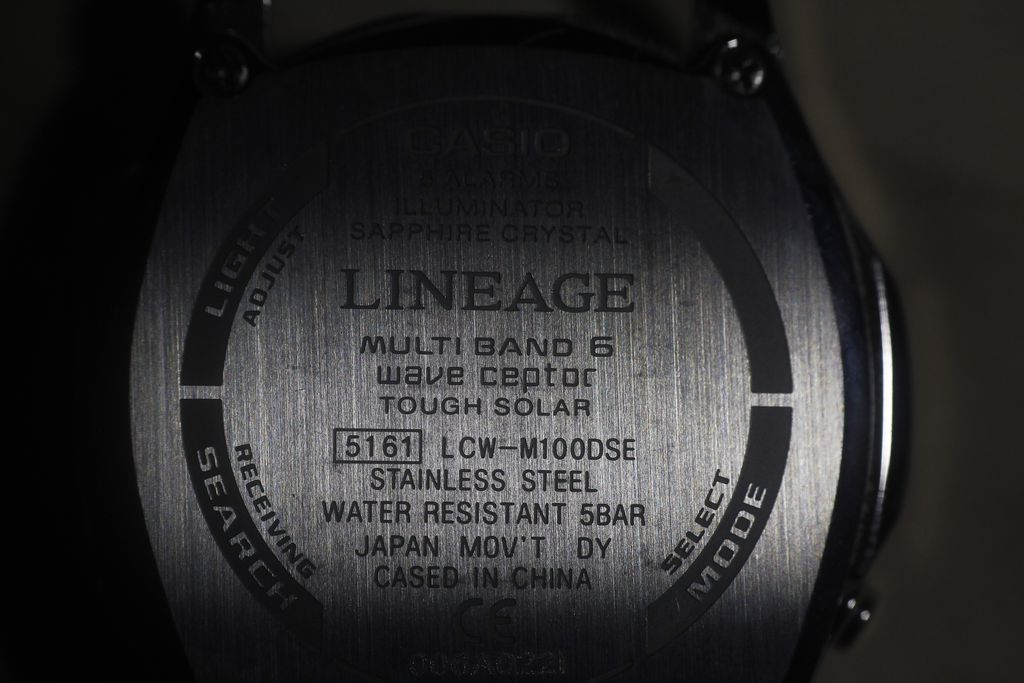 Casio LCW-M100DSE: back detail